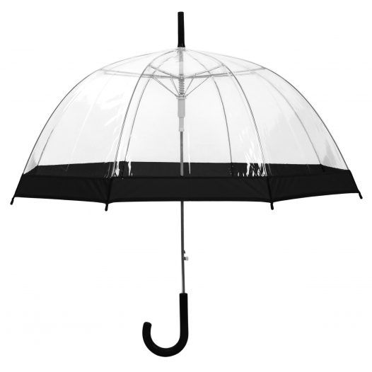 Clear Dome Umbrella Black Trim upright