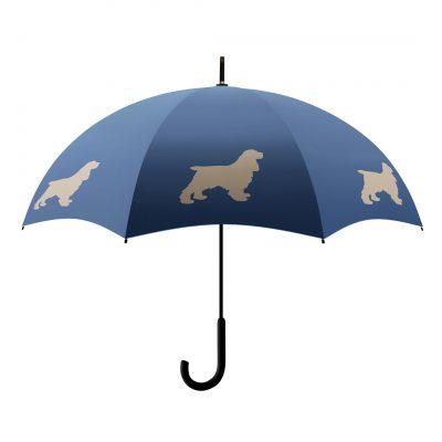 Cocker Spaniel Umbrella - Blue & Beige