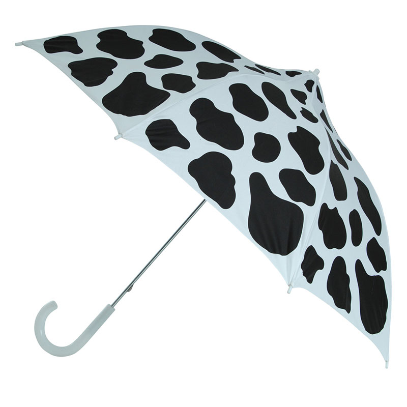 picture regarding Umbrella Pattern Printable identified as Cow Moo Flage Black upon White Cow Print Umbrella