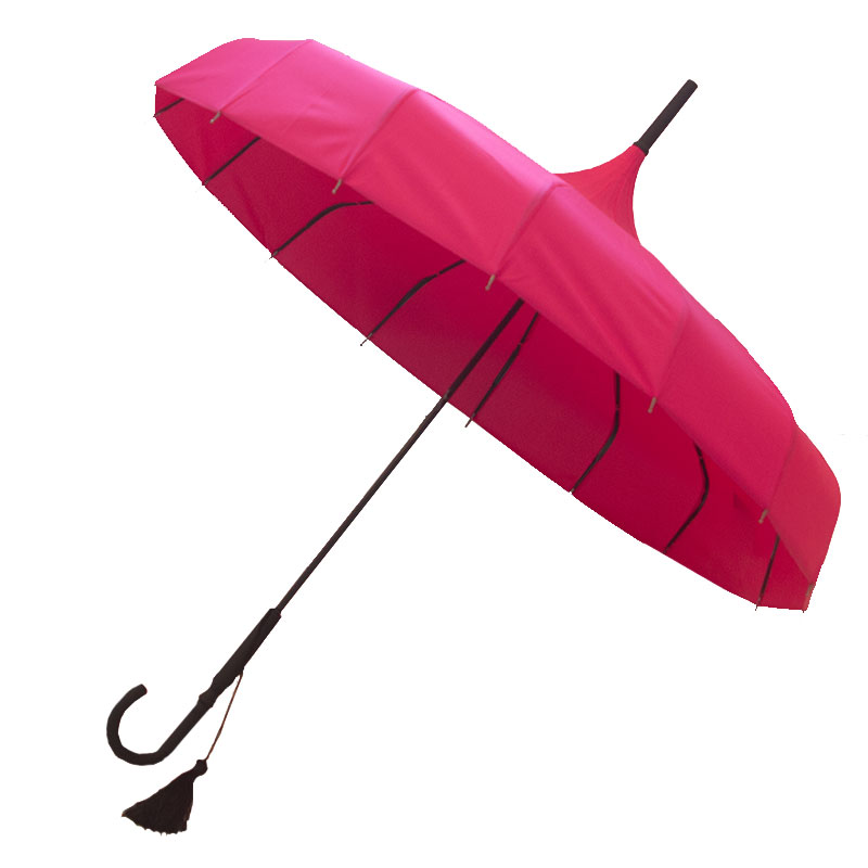 Ladies Umbrellas Oriental Pink Pagoda Umbrella