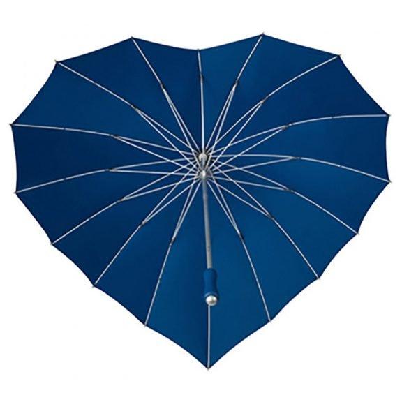 blue heart umbrella
