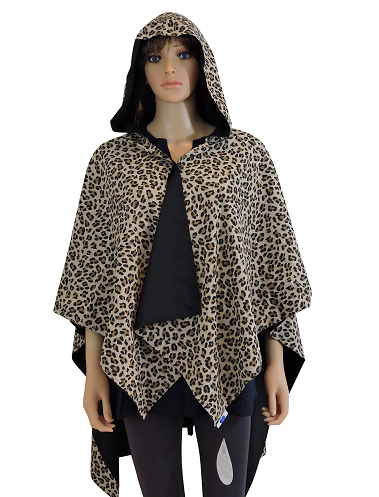 rainrap leopard modeled full hood