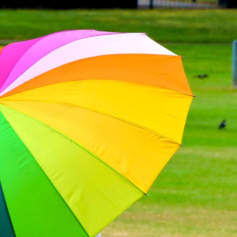 Rainbow Walking Umbrella close up