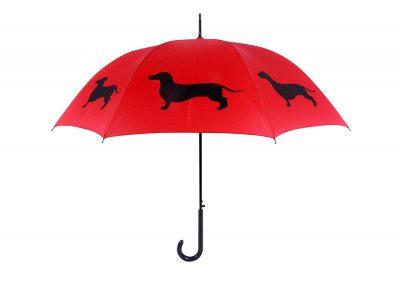 Dachshund Dog Umbrella - Red & Black