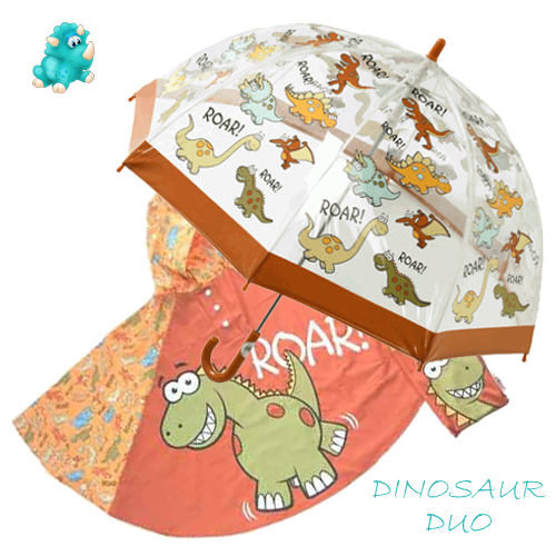 dino Duo Umbrella Poncho kids raincoats