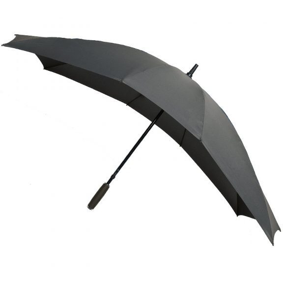 grey double umbrella