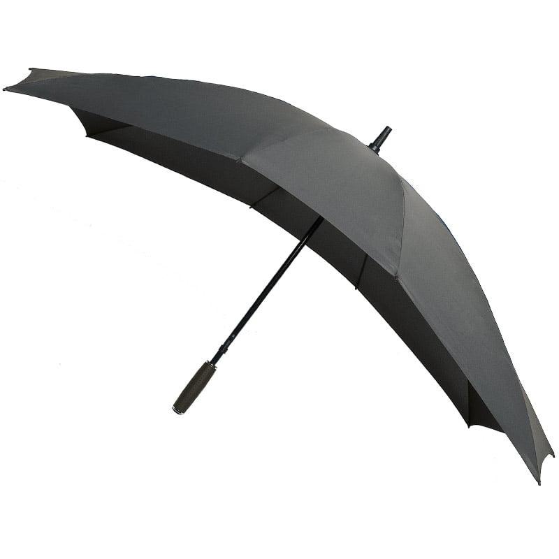 grey double umbrella