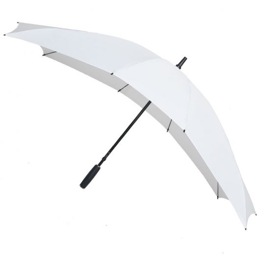 white double umbrella