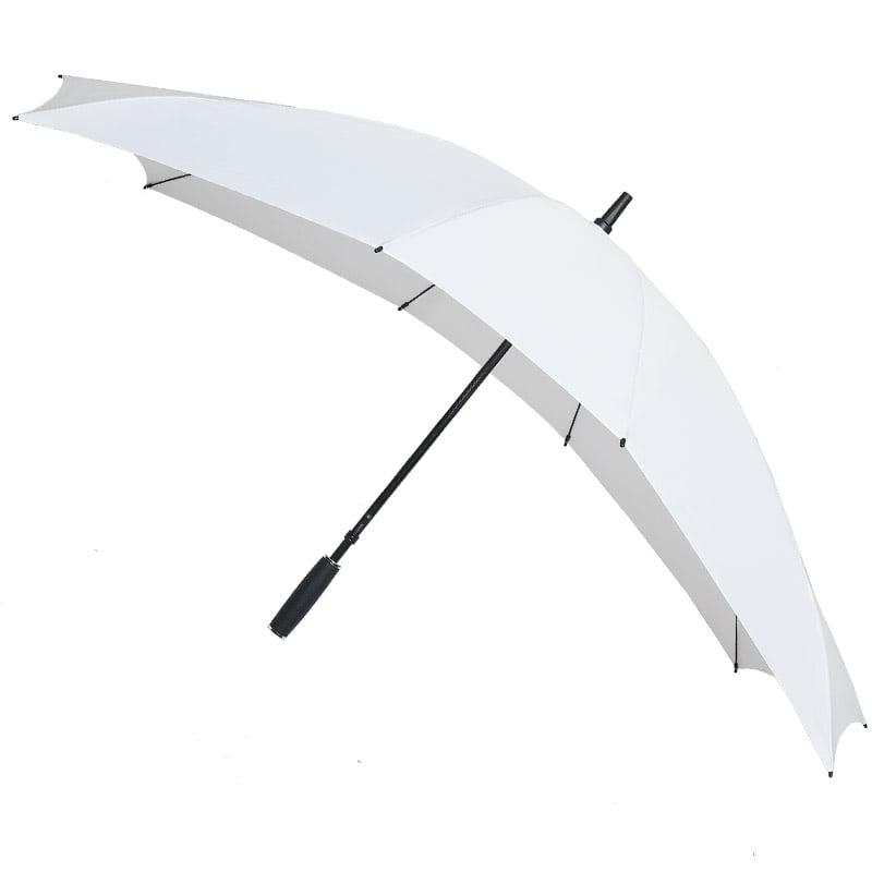 white double umbrella