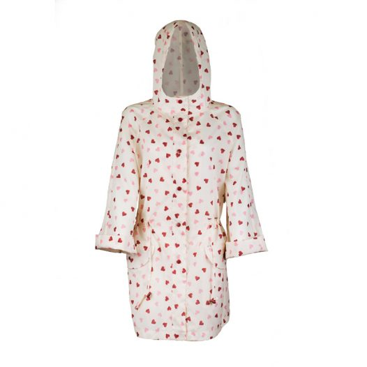Emma B Heart raincoat