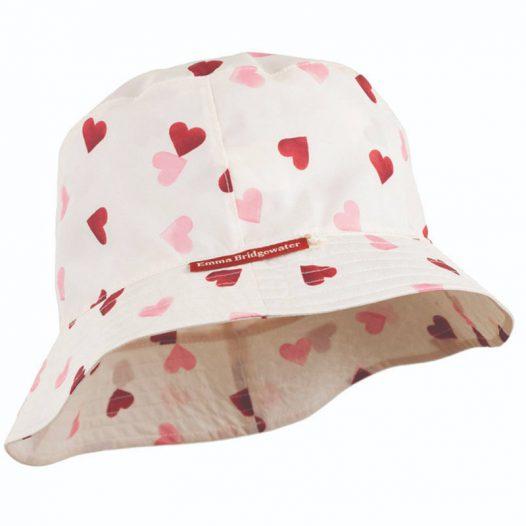 Emma B heart rain hat