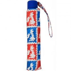 Union Jack England Map Umbrella Telescopic