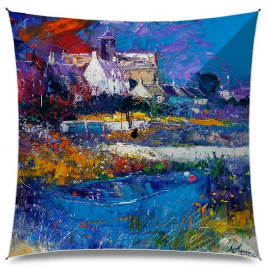 JoLoMo Art Umbrella - Evening Storm on the Abbey Isle of Iona