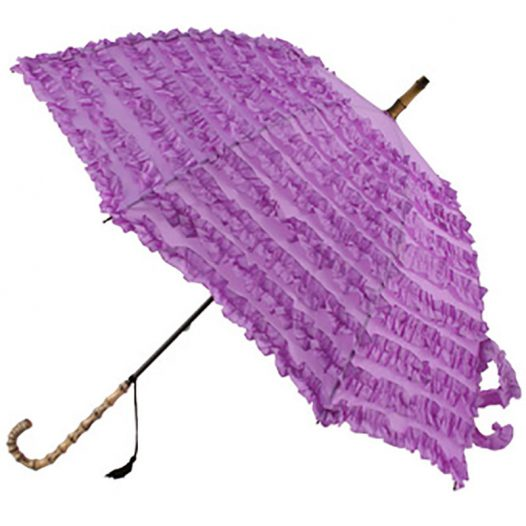 purple frilled umbrella