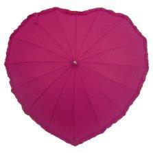 Frilled Pink Heart Umbrella