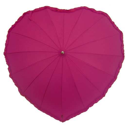 Frilled Pink Heart Umbrella
