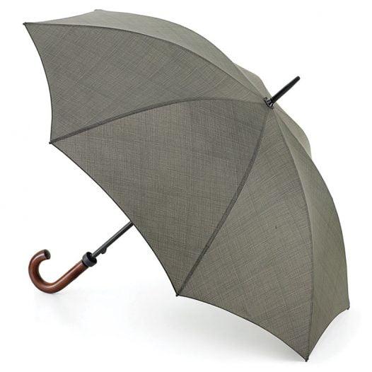 Khaki Umbrella - Huntsman Khaki Weave Print