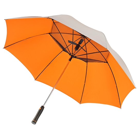 uv fan umbrella orange underside