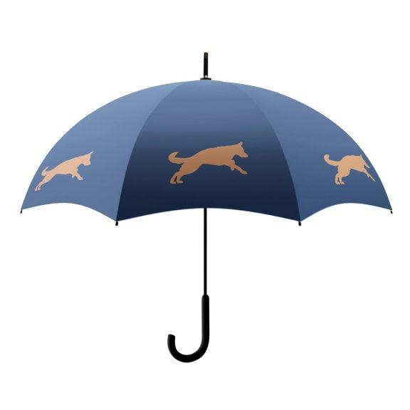 German Shepherd Umbrella - Navy & Orange