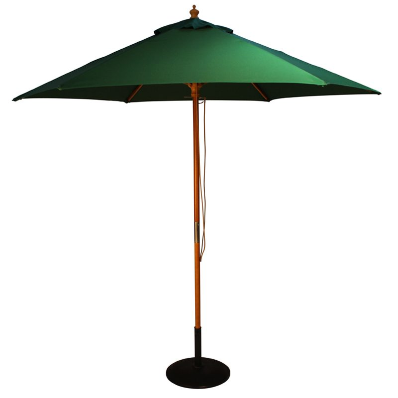 wood pulley parasol green cutout