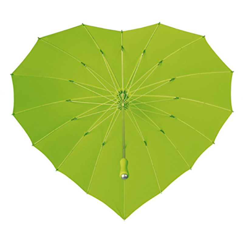 green heart umbrella