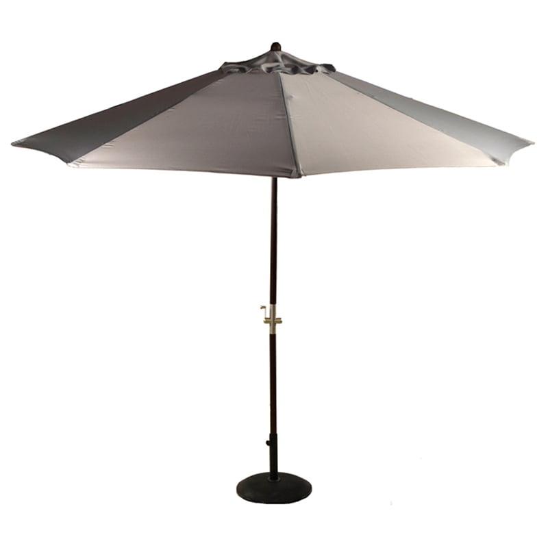 patio umbrella parasol grey wood crank handle 3m umbrella heaven. Black Bedroom Furniture Sets. Home Design Ideas
