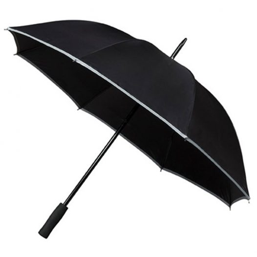 Adults Hi Viz Umbrella Black