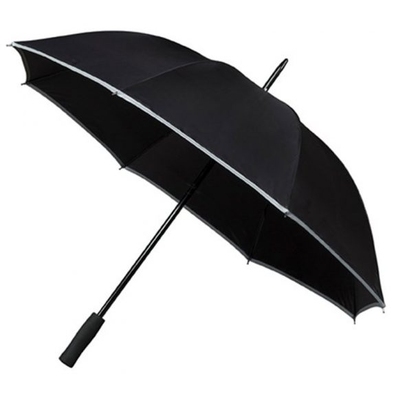 Adults Hi Viz Umbrella Black