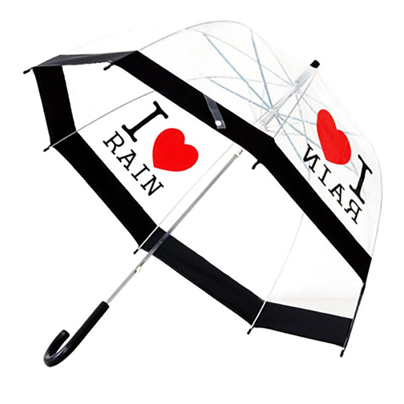 I Love Rain Umbrella / PVC Dome