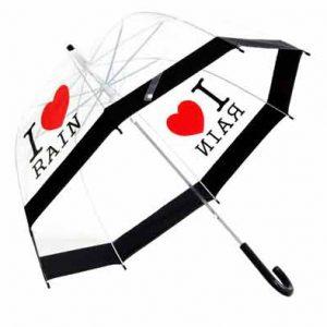 I Love Rain - Dome Umbrella