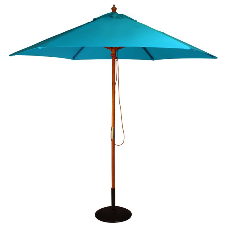 wood pulley parasol jade blue cutout