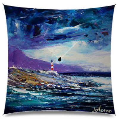 JoLoMo Art Umbrella - Big Storm over Scalpay Light Isle of Harris