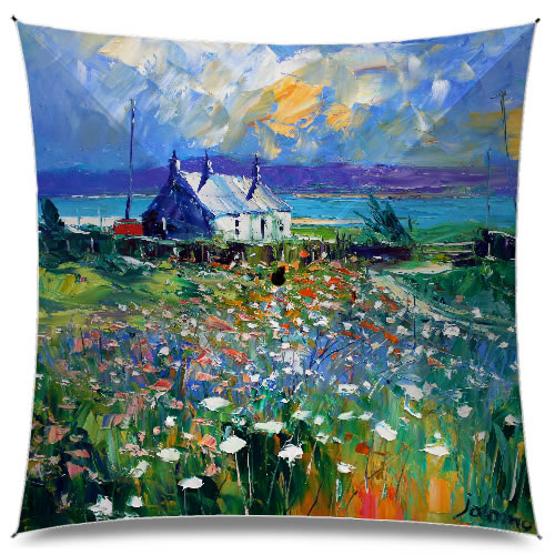 JoLoMo Art Umbrella - Evening Summerlight Isle of Gigha
