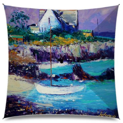 JoLoMo Art Umbrella - Eveninglight the Bishop's House Iona