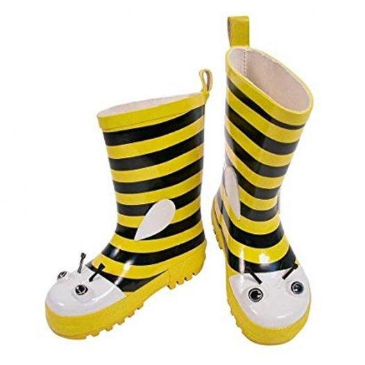 bee wellington boots