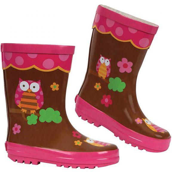 Stephen Joseph Kids Wellington Boots - Owl design