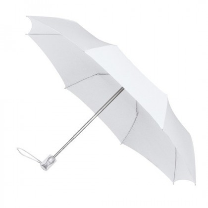 Automatic Open and Close White Travel Umbrella