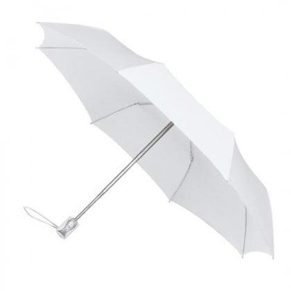 Automatic Open and Close White Travel Umbrella