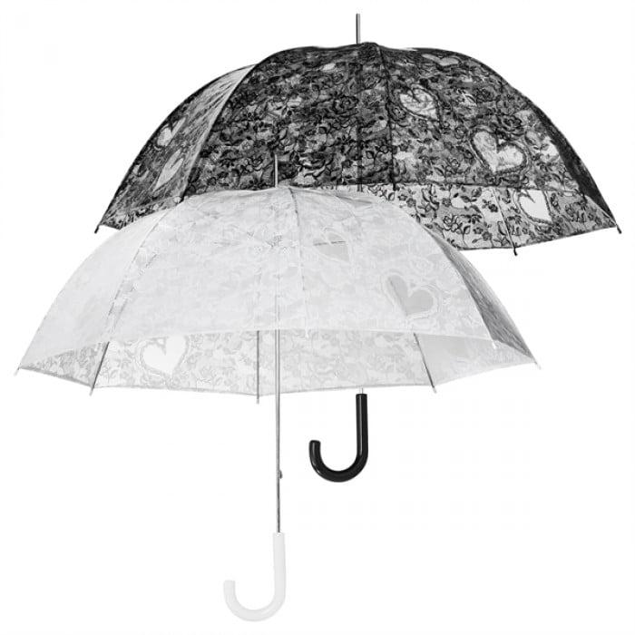 Clear Dome Floral Lace Print Umbrella