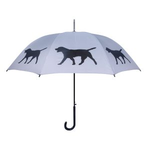 Labrador Dog Umbrella - Black & Silver