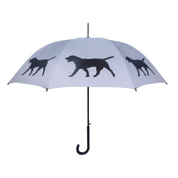 Labrador Dog Umbrella - Black & Silver