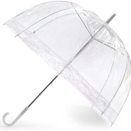 Lace Clear Dome Umbrella