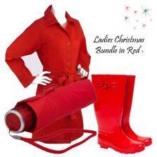 Ladies Gift Rainwear Set Bundle - Red