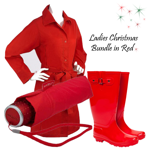 Ladies Gift Rainwear Set Bundle - Red