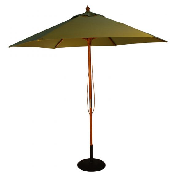 wood pulley parasol light green cutout
