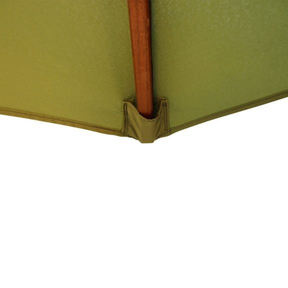 wood pulley parasol light green tip