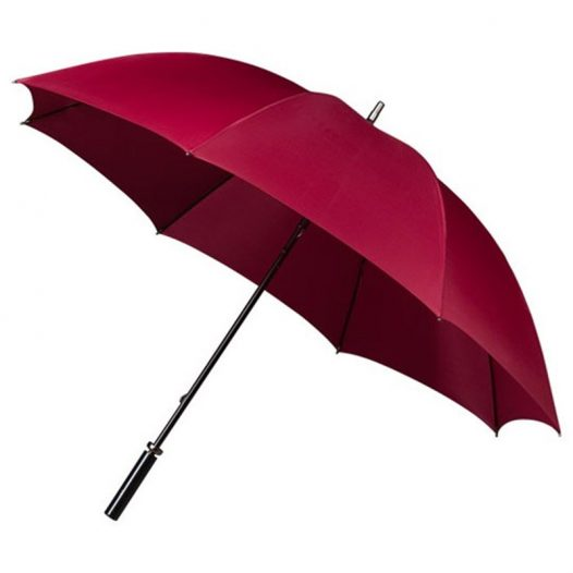 maroon golf umbrella