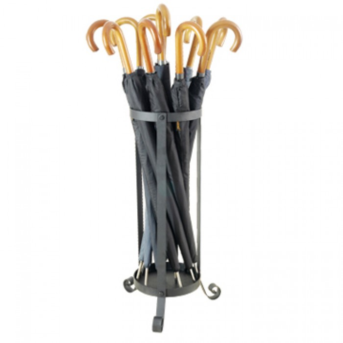 metal umbrella stand black