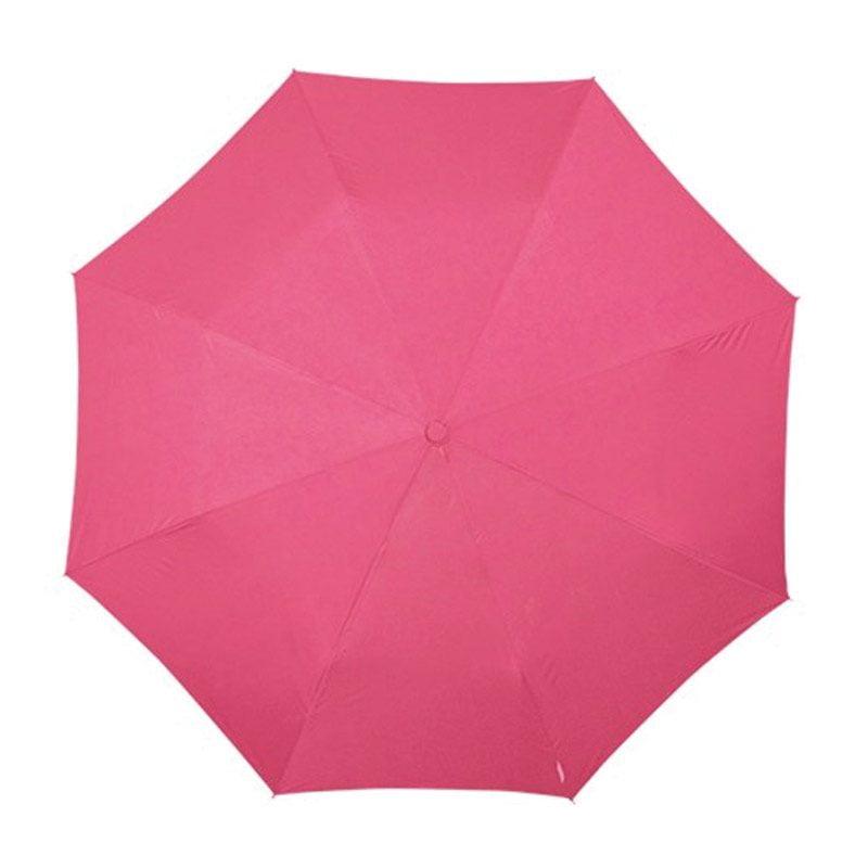 pink folding umbrella