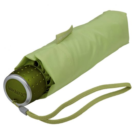 green folding umbrella